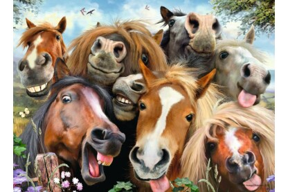 Ravensburger 14695 - Selfies - Mókás lovak - 500 db-os puzzle