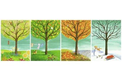 Ravensburger 14706 - Panoráma puzzle - Négy évszak - 500 db-os puzzle