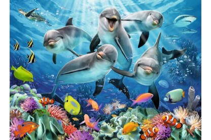 Ravensburger 14710 - Delfinek a korallzátonyon - 500 db-os puzzle