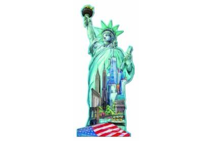 Ravensburger 16151 - Sziluett puzzle - Szabadság szobor, New York - 1000 db-os puzzle