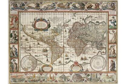 Ravensburger 16633 - Világtérkép -ben - 2000 db-os puzzle