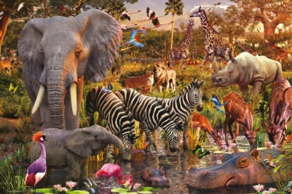 Ravensburger 17037 - Afrikai állatok - 3000 db-os puzzle