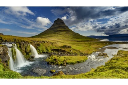 Ravensburger 19539 - Nature Edition - Kirkjufell vízesés, Izland - 1000 db-os puzzle