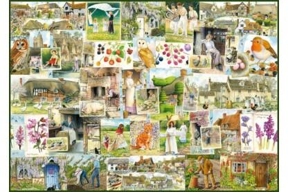 Ravensburger 19699 - Vidéki élet kollázs - 1000 db-os puzzle