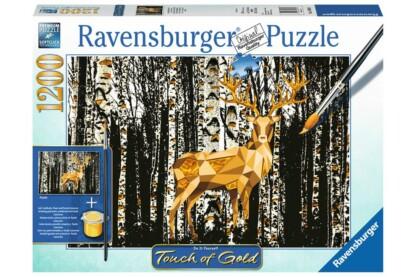Ravensburger 19936 - puzzle - Touch of Gold - Szarvas nyírfák között  - 1200 db-os puzzle