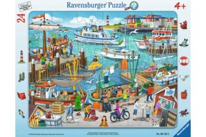 Ravensburger 06152 - Egy nap a kikötőben - 24 db-os keretes puzzle