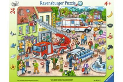 Ravensburger 06581 - Állatmentés - 24 db-os keretes puzzle