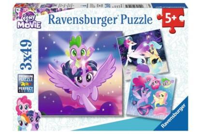 Ravensburger 08027 - My Little Pony - Póni kaland - 3 x 49 db-os puzzle