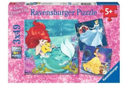 Ravensburger 09350 - Disney Princess - 3 x 49 db-os puzzle