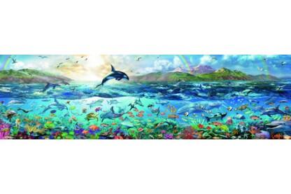 Ravensburger 16696 - Panoráma puzzle - Az óceán élővilága - 2000 db-os puzzle