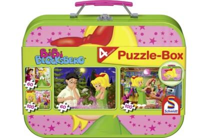 Schmidt 55595 - Bibi Blocksberg Puzzle-Box - 2x60+2x100 db-os puzzle fém bőröndben