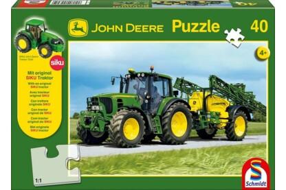 Schmidt 55625 - Traktor 6630 mit Feldspritze, John Deere - 40 db-os puzzle
