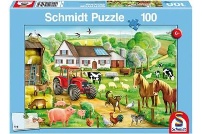 Schmidt 56003 - Merry Farmyard - 100 db-os puzzle