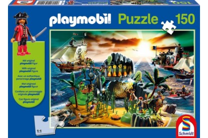 Schmidt 56020 - Playmobil puzzle - Pirateninsel - 150 db-os puzzle
