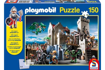 Schmidt 56090 - Playmobil puzzle - Fight for the Royal Treasure - 150 db-os puzzle
