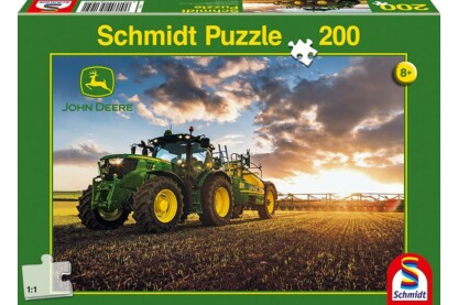 Schmidt 56145 - Traktor 6150R mit Güllefass, John Deere - 200 db-os puzzle