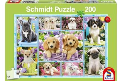 Schmidt 56162 - Puppies - 200 db-os puzzle