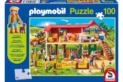Schmidt 56163 - Playmobil puzzle - Bauernhof - 100 db-os puzzle