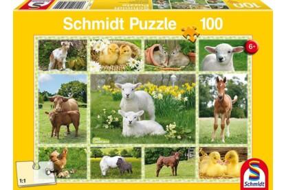 Schmidt 56194 - Baby Farm Animals - 100 db-os puzzle