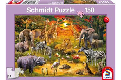 Schmidt 56195  - Animals in Africa - 150 db-os puzzle