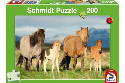 Schmidt 56199 - Family of Horses - 200 db-os puzzle