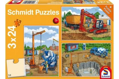 Schmidt 56200 - Construction Work Ahead - 3 x 24 db-os puzzle