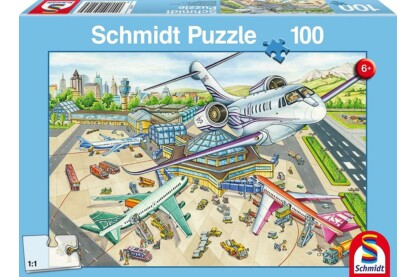 Schmidt 56206 - A Day at the Airport - 100 db-os puzzle