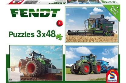 Schmidt 56221 - Fendt - 3 x 48 db-os puzzle