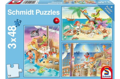 Schmidt 56223 - Gang of Pirates  - 3 x 48 db-os puzzle