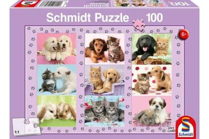 Schmidt 56268 - My Animal Friends - 100 db-os puzzle