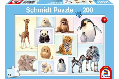 Schmidt 56270 - Baby Animals of the Wild - 200 db-os puzzle