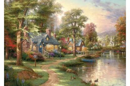 Schmidt 57452 - Hometown Lake, Thomas Kinkade - 1500 db-os puzzle