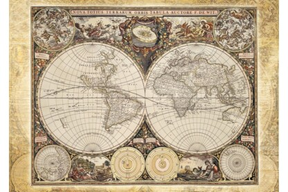 Schmidt 58178 - Historical map of the world - 2000 db-os puzzle
