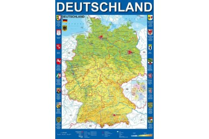 Schmidt 58287 - Map of Germany - 1000 db-os puzzle