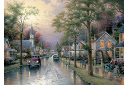 Schmidt 58441 - Hometown Morning, Thomas Kinkade - 1000 db-os puzzle