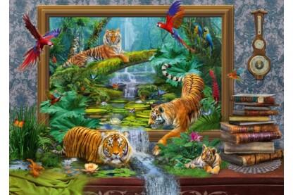 Schmidt 59337 - Tiger im Dschungel, Jan Patrik Krasny - 1000 db-os puzzle