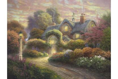 Schmidt 59466 - Cottage im Rosengarten, Thomas Kinkade - 1000 db-os puzzle