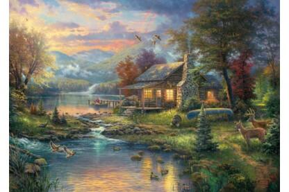 Schmidt 59467 - Naturparadies, Thomas Kinkade - 1000 db-os puzzle