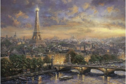 Schmidt 59470 - Paris, Stand der Liebe, Thomas Kinkade - 1000 db-os puzzle