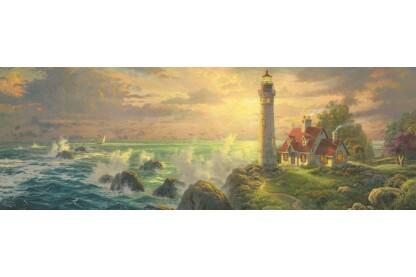 Schmidt 59477 - Panoráma puzzle - Lighthouse Seascape, Kinkade - 1000 db-os puzzle