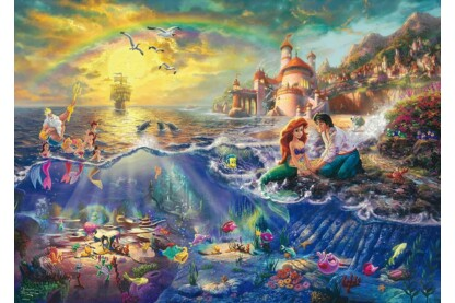 Schmidt 1000 db-os puzzle - Disney - The Little Mermaid, Kinkade (59479)
