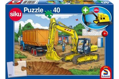 Schmidt 56350 - Bagger - 40 db-os puzzle