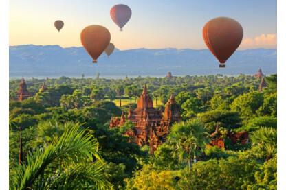 Schmidt 58956 - Hot air balloons - Mandalay, Myanmar - 1000 db-os puzzle