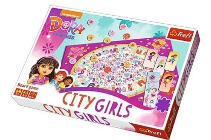 Trefl 01422- Dóra és barátai - Városi lányok társasjáték