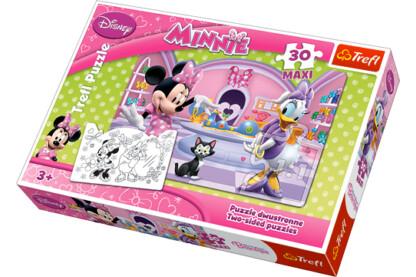 Trefl 14165 - Minnie kalandjai - 30 db-os Színezhető Maxi puzzle