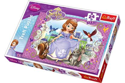 Trefl 14208 - Szófia hercegnő és legjobb barátai - 24 db-os Maxi puzzle