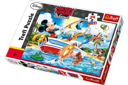 Trefl 14221 - Mickey Mouse és a hal - 24 db-os Maxi puzzle