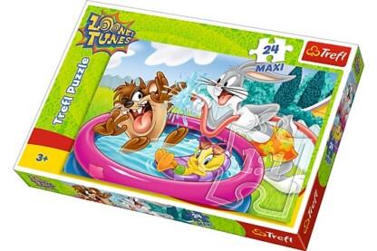 Trefl 14238 - Looney Tunes - Pancsolás a kertben - 24 db-os Maxi puzzle