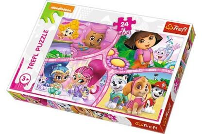 Trefl 14260 - Kalandra fel lányok! - 24 db-os Maxi puzzle