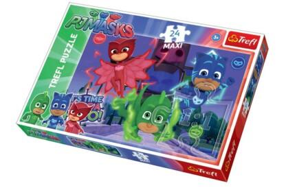 Trefl 14262 - PJ Masks - Pizsihősök - 24 db-os Maxi puzzle